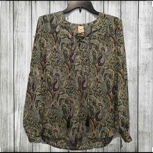 🌟EUC🌟 FADED GLORY PATTERNED BLOUSE